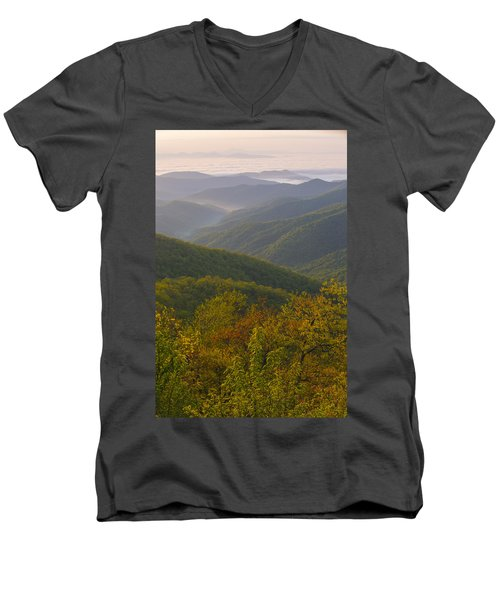 Smokey Mountains Men's V-Neck T-Shirt