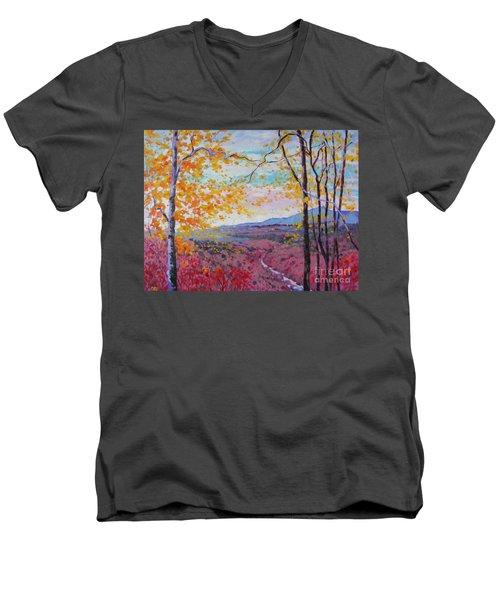 Smokey View Morning Men's V-Neck T-Shirt