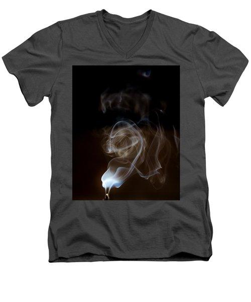 Smokey Wisps  Men's V-Neck T-Shirt