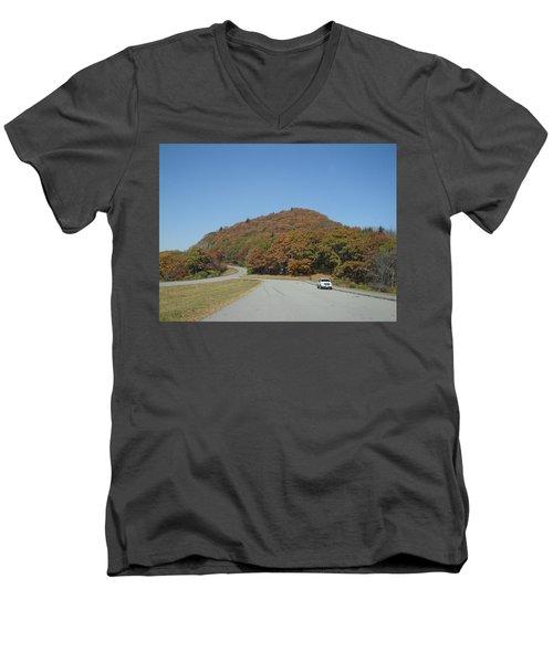 Smokies 10 Men's V-Neck T-Shirt by Val Oconnor