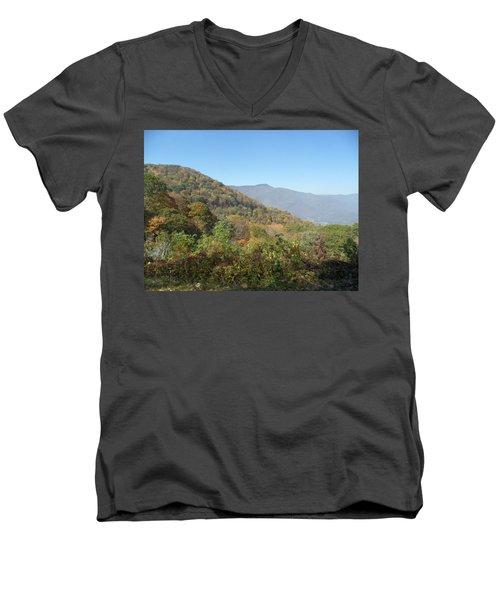 Smokies 11 Men's V-Neck T-Shirt by Val Oconnor