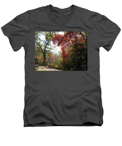 Smokies 13 Men's V-Neck T-Shirt by Val Oconnor