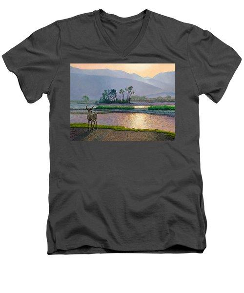 Smoky Morning Glitter Men's V-Neck T-Shirt