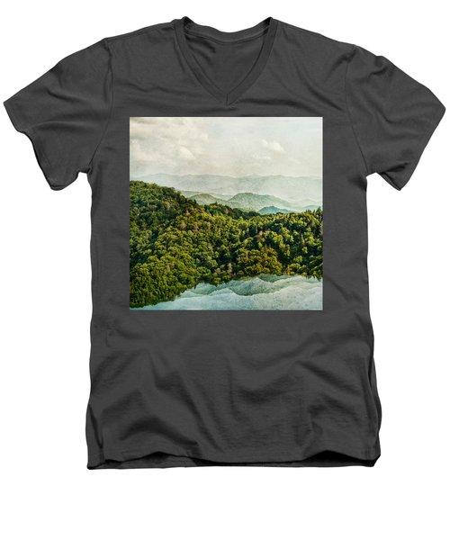Smoky Mountain Reflections Men's V-Neck T-Shirt