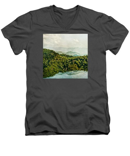 Smoky Mountain Reflections Men's V-Neck T-Shirt