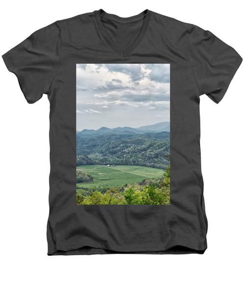 Smoky Mountain Scenic View Men's V-Neck T-Shirt