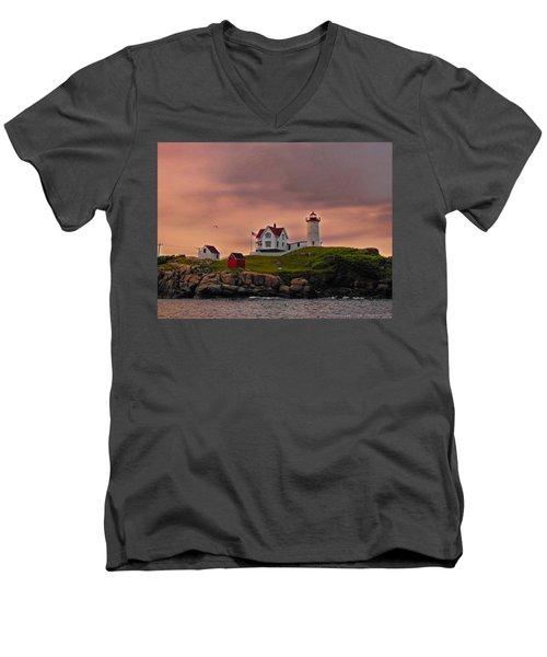 Smoky Skies Men's V-Neck T-Shirt