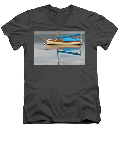 Men's V-Neck T-Shirt featuring the photograph Smooth Sailing by Werner Padarin