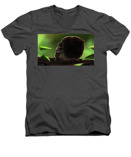 Snail Men's V-Neck T-Shirt
