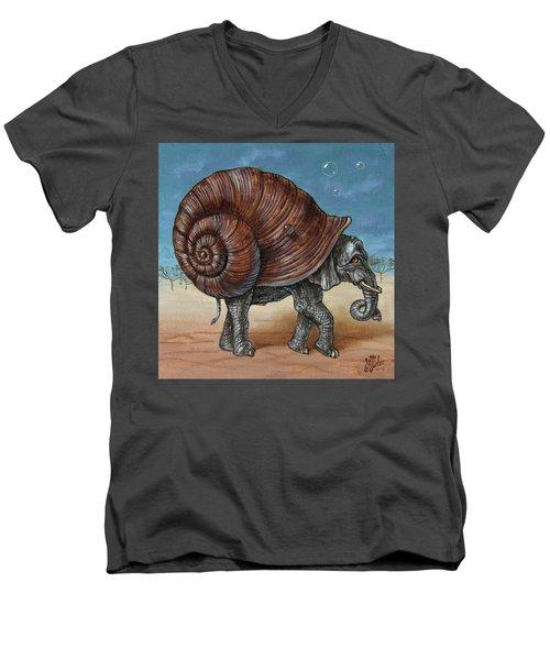 Snailephant Men's V-Neck T-Shirt