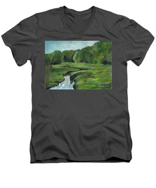 Snake Like Creek 2 Maine Men's V-Neck T-Shirt