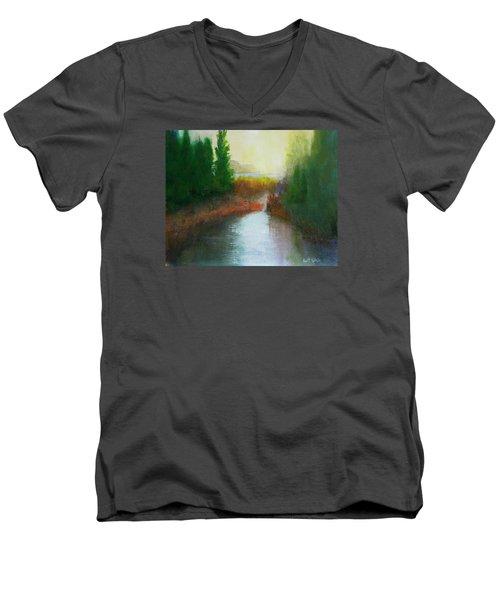 Snake River Canoe Trip Men's V-Neck T-Shirt