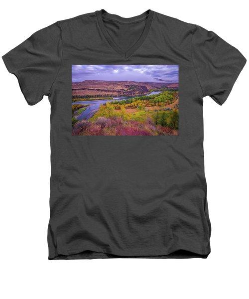 Snake River Fall Beauty  Men's V-Neck T-Shirt