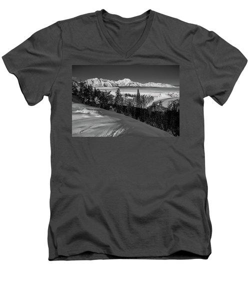 Snake River Overlook-winter Scene 79 Men's V-Neck T-Shirt