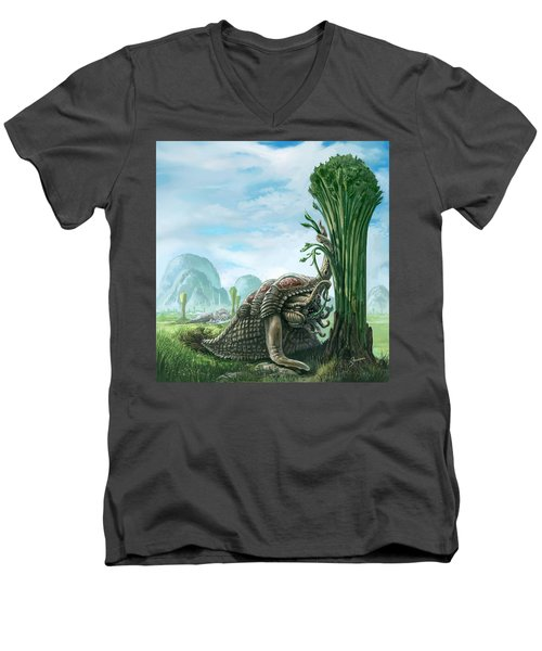 Snelephant Men's V-Neck T-Shirt