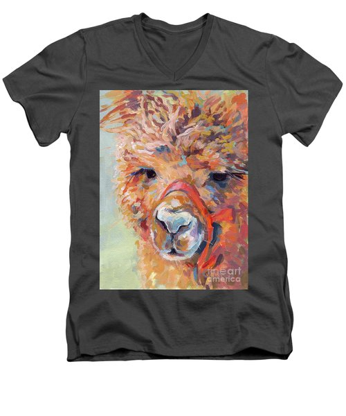 Snickers Men's V-Neck T-Shirt by Kimberly Santini