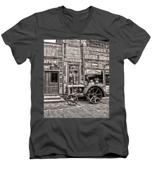 Snohomish Antiques Men's V-Neck T-Shirt by Sonya Lang