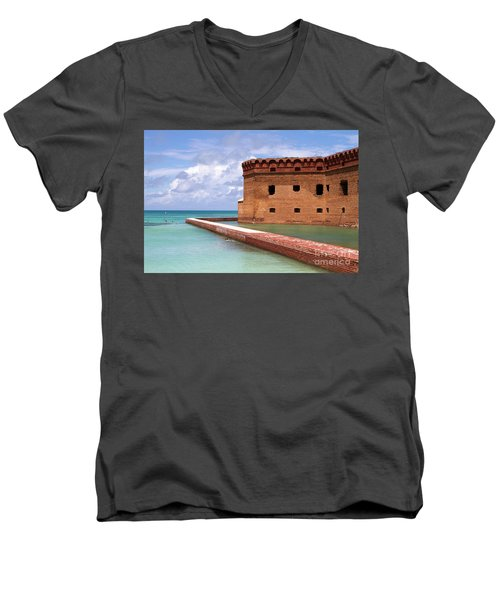 Snorkelers Fort Jefferson Men's V-Neck T-Shirt