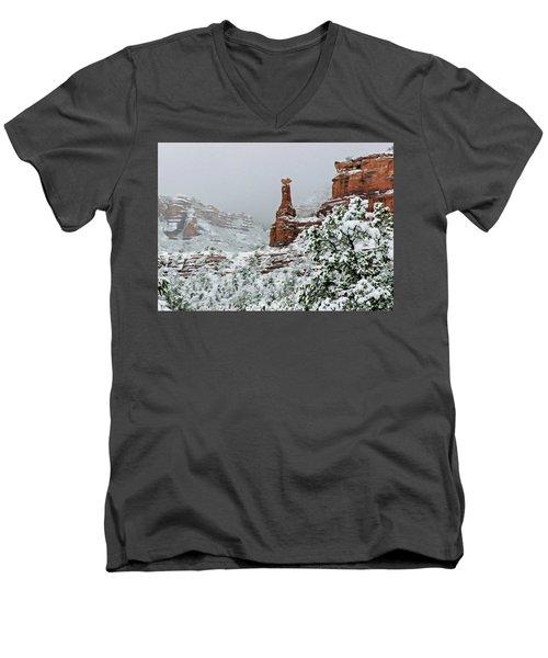 Snow 06-027 Men's V-Neck T-Shirt