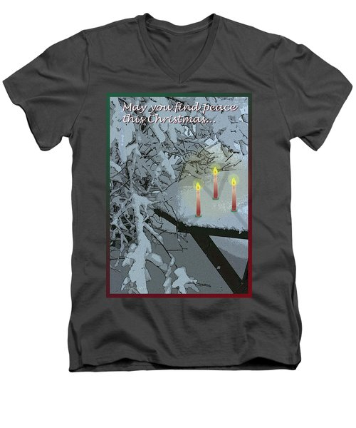 Snow And Candlelight Men's V-Neck T-Shirt