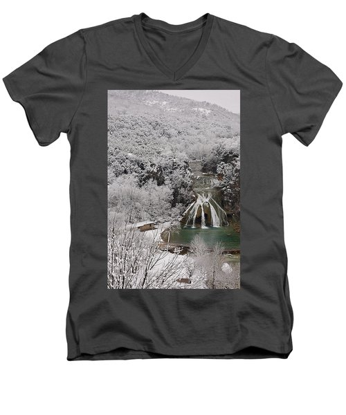 Snow And Turner Falls 2 Men's V-Neck T-Shirt
