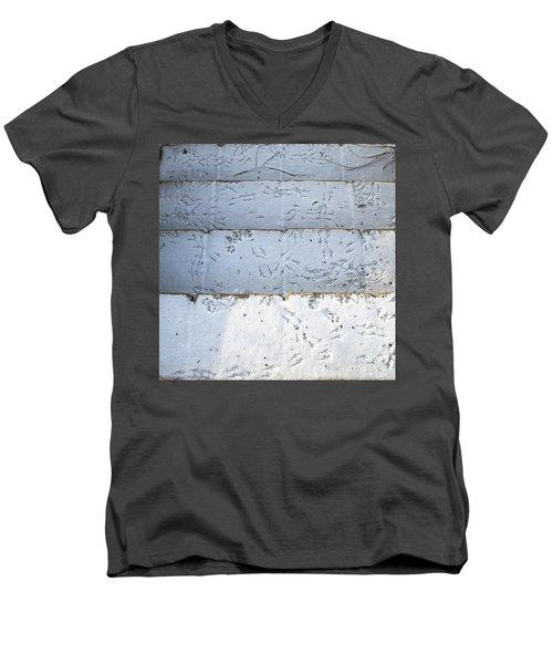 Snow Bird Tracks Men's V-Neck T-Shirt
