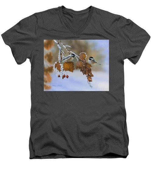 Snow Chickadees Men's V-Neck T-Shirt