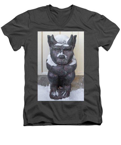 Snow Covered Chimera Men's V-Neck T-Shirt