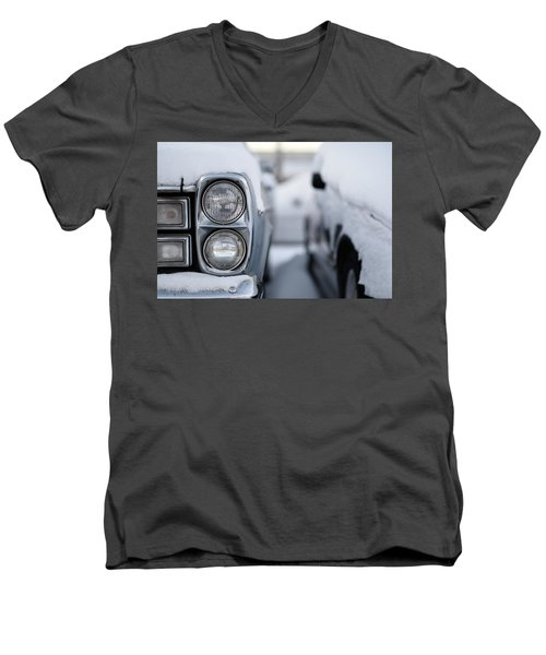Snow Covered Classic Men's V-Neck T-Shirt