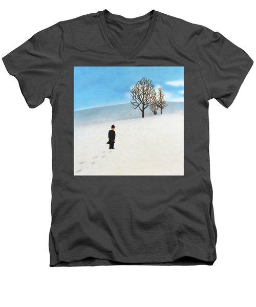 Snow Day Men's V-Neck T-Shirt by Thomas Blood