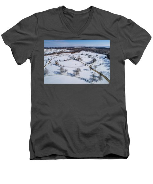 Snow Diamonds Men's V-Neck T-Shirt