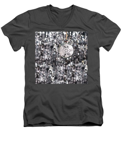 Men's V-Neck T-Shirt featuring the photograph Snow Flake by Ulrich Schade