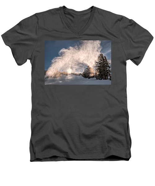Snow Flume Men's V-Neck T-Shirt
