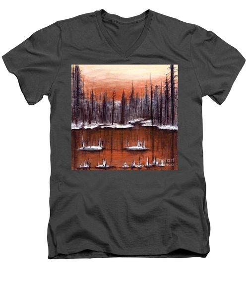 Snow Glow  Men's V-Neck T-Shirt