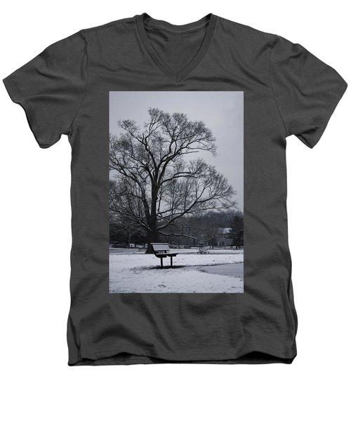Snow In East Brunswick Men's V-Neck T-Shirt by Vadim Levin