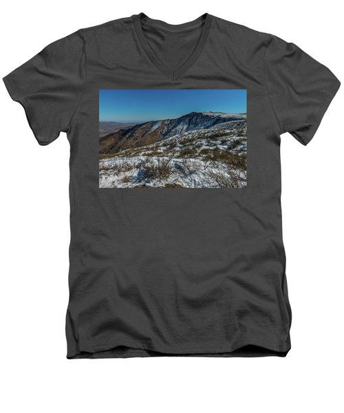 Snow In The Rain Shadow Men's V-Neck T-Shirt