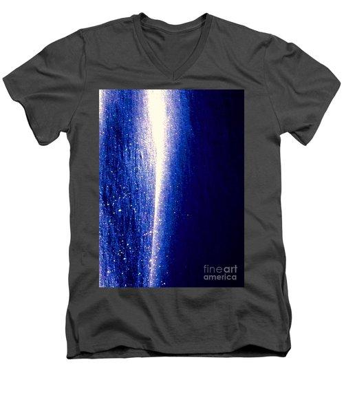 Snow Lightning Men's V-Neck T-Shirt by Jennifer Lake