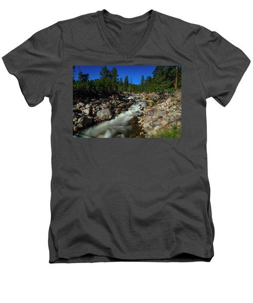 Snow Melt Stream Men's V-Neck T-Shirt