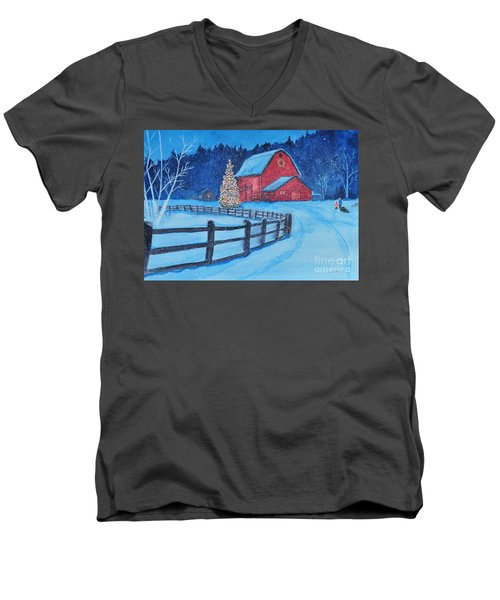 Snow On Christmas Eve Men's V-Neck T-Shirt