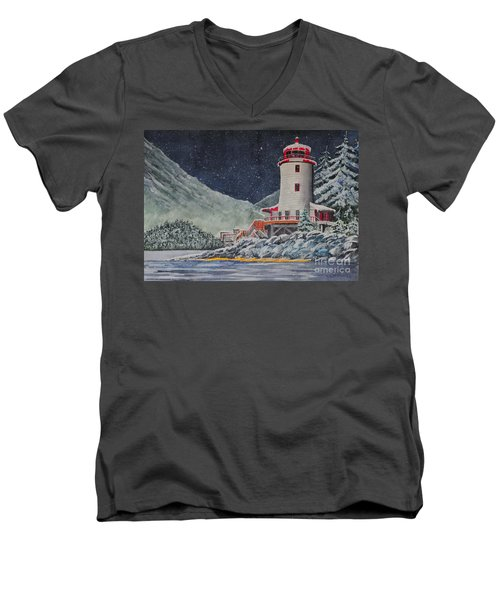 Snow On Sitka Sound Men's V-Neck T-Shirt