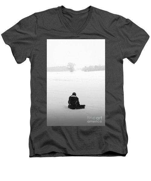 Men's V-Neck T-Shirt featuring the photograph Snow Wonder by Brian Jones