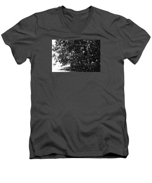 Men's V-Neck T-Shirt featuring the photograph Snow by Yulia Kazansky