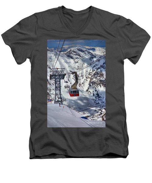 Snowbird Tram Portrait Men's V-Neck T-Shirt