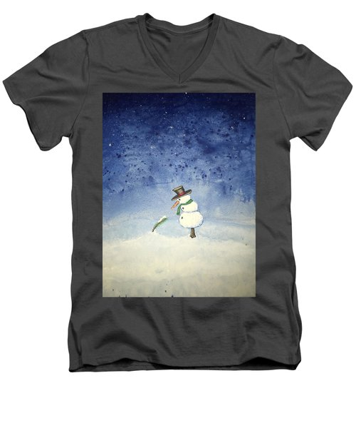 Snowfall Men's V-Neck T-Shirt by Antonio Romero