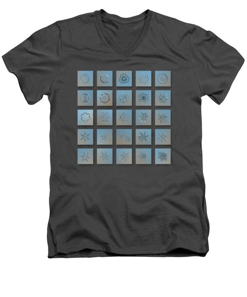 Snowflake Collage - Season 2013 Bright Crystals Men's V-Neck T-Shirt
