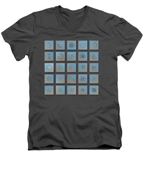 Snowflake Collage - Season 2013 Bright Crystals Men's V-Neck T-Shirt