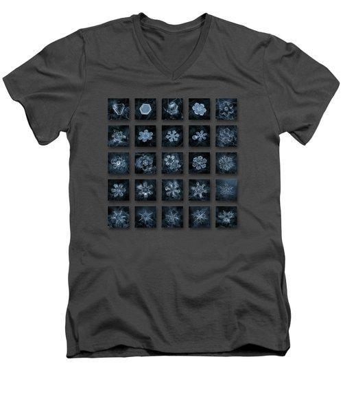 Snowflake Collage - Season 2013 Dark Crystals Men's V-Neck T-Shirt