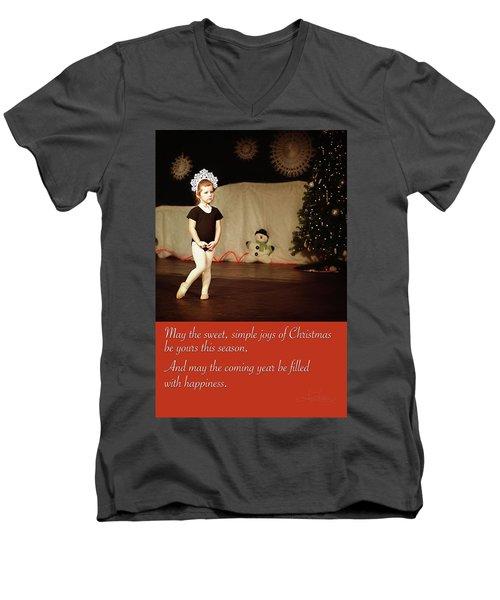 Snowflake Dancer Men's V-Neck T-Shirt