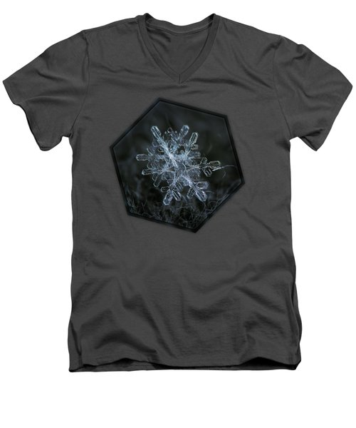 Men's V-Neck T-Shirt featuring the photograph Snowflake Of January 18 2013 by Alexey Kljatov