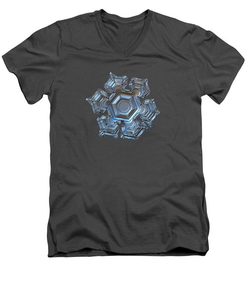 Snowflake Photo - Cold Metal Men's V-Neck T-Shirt
